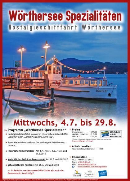 Nostalgieschifffahrt: Themenfahrten am Wörthersee