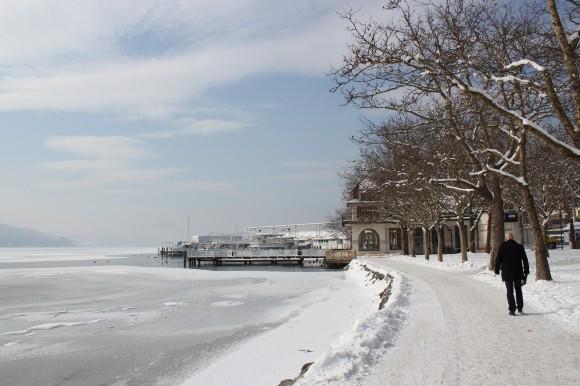 Winterwunderland in der Ostbucht von Klagenfurt.