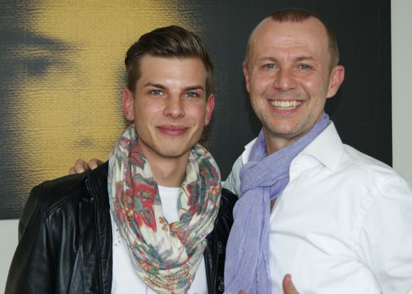 Chef Ferdinand Ranacher mit Model Niki Knafl. Er hat die Hauptrolle im Ranacher-Werbespot bekommen.