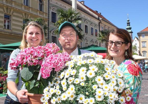 Auch 2013 dabei: Der Blumenbutler.