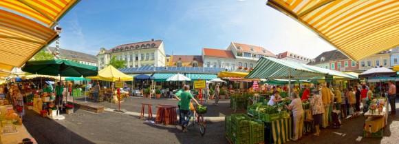 Bereits am 12. Oktober soll der Benediktinermarkt komplett im neuen Glanz erstrahlen. Zur Eröffnung wird dann bei einem großen Erntedankfest gefeiert.