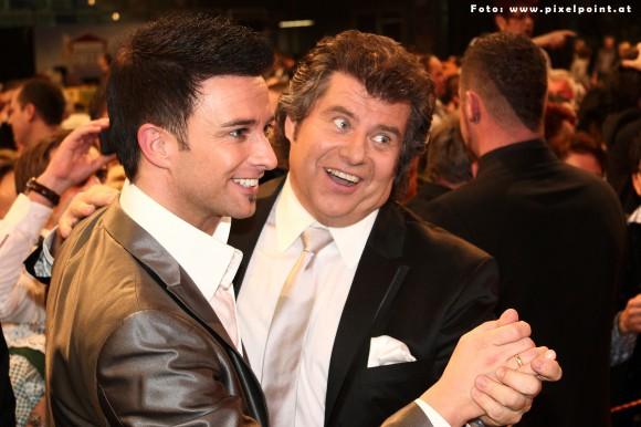 "Die ""Dancing Stars"" Marco Ventre und Andy Borg. Foto:"