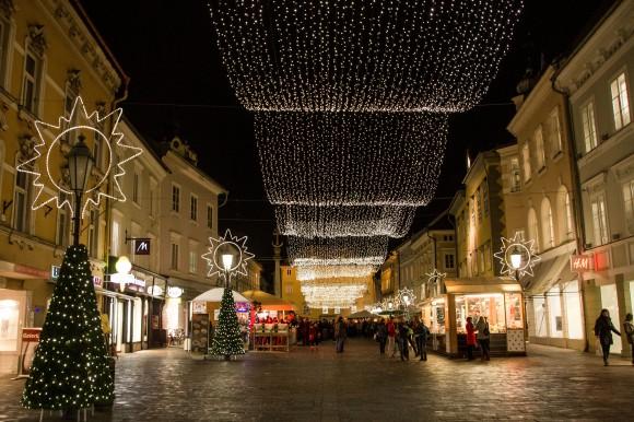 """Die Weihnachtsbeleuchtung ist """"scharf""""."""