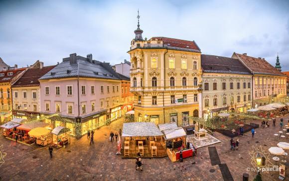 Lichterprobe vor dem Glühwein-Opening in Klagenfurt. Foto: pixelpoint multimedia