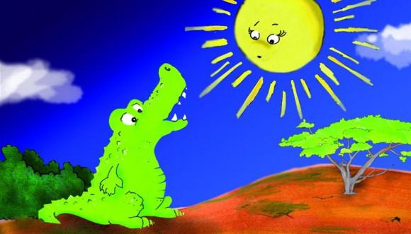 Was macht die Sonne, wenn es dunkel wird? Und was hat das Krokodil damit zu tun? Im Planetarium wird's verraten