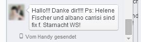 Mal keine Presseaussendung, sondern eine einfache Facebookmessage: Helene in Klagenfurt!