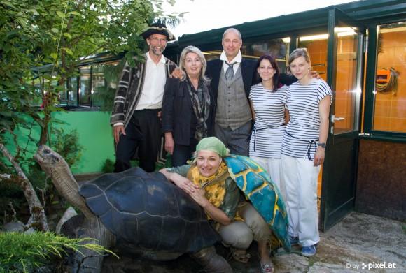 Feierliche Eröffnung bei der langen Nacht der Schildkröten.