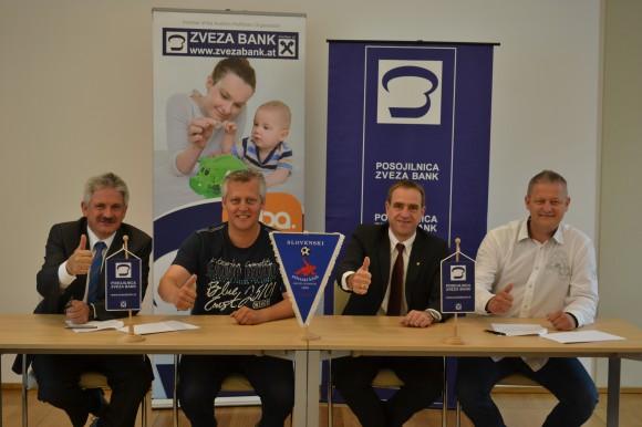 Bild zeigt v.l.n.r.: Dir. Jakob Blaschitz, GF Präsident Marko Wieser, Dir. Mag. Rudi Urban, SAK-Präsident Franz Wieser.