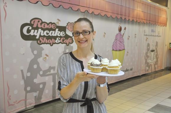 Mišaela Lisjak eröffnet in Klagenfurt den ersten Cupcake-Store Kärntens!       Foto: WOCHE Klagenfurt/Peter Lindner