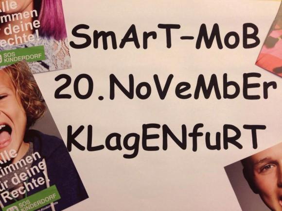 Sei auch du dabei beim 'smartmob' am 20.11. ab 14:15 Uhr in den City Arkaden Klagenfurt geht's los!