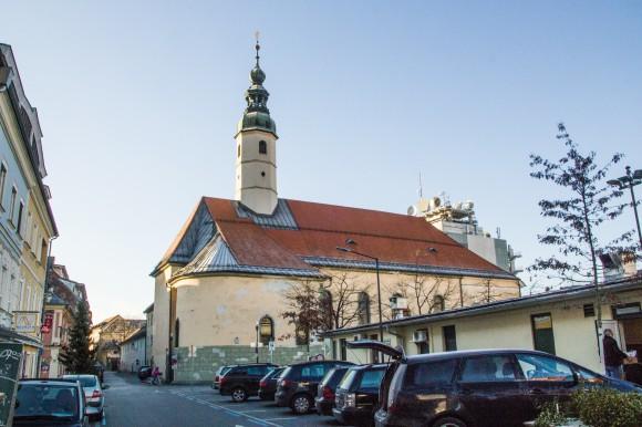 Die Benediktinerkirche in Klagenfurt. Foto: pixelpoint