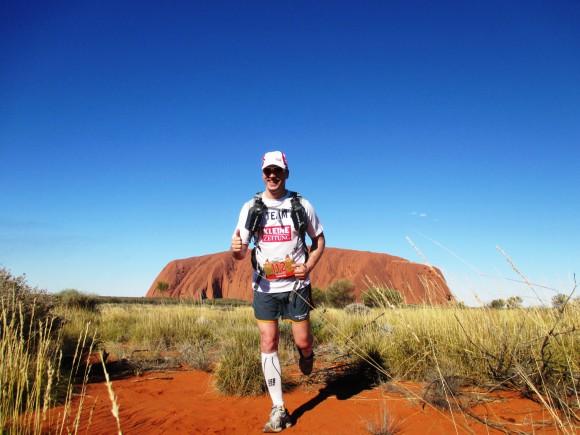 Alexander Tauchhammer beim Outback Marathon.