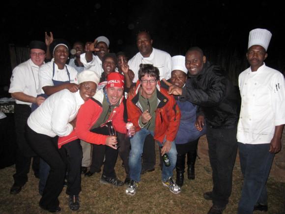 Alexander Tauchhammer und Ö3-Wecker-Comedian Christian Schwab beim Marathon in Südafrika.