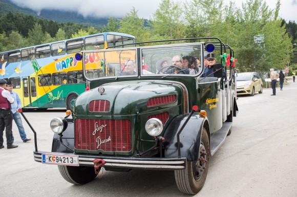 Nostalgische Fahrten in Klagenfurt. Foto: Erlebnis.net/Peter Just