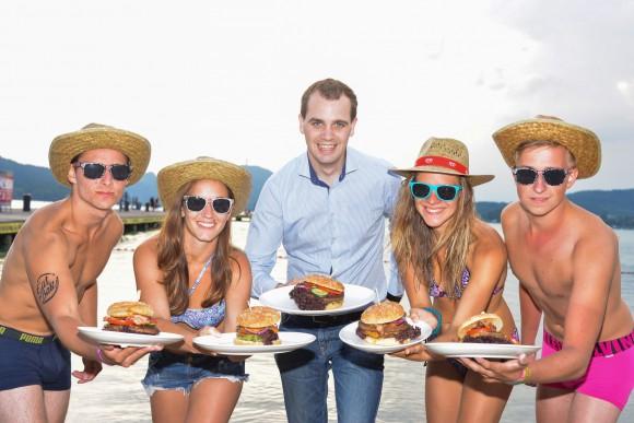 Schmeckt. Der Beach Burger vom New York American Bar & Grill. Foto: Nicolas Zangerle