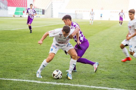 SK Austria Klagenfurt siegte zuletzt gegen den FAC mit 1:0. Foto: pixelpoint