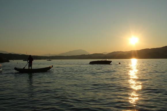 Sonnenuntergang am Südufer. Foto: pixelpoint