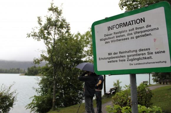 """Obwohl die Bucht eindeutig als """"Rastplatz"""" deklariert ist, halten sich Camper dort oft tagelang auf"""