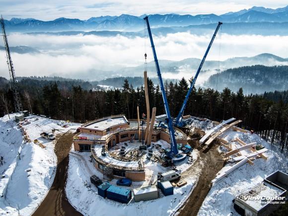 Die Baustelle am 29. Jänner zu Mittag. Fotos: Rudi Schneeberger