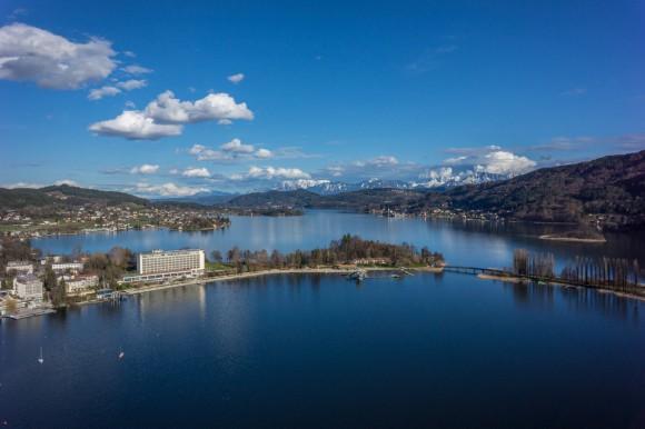 Parkhotel aus der Vogelperspektive. Foto: Gert Steinthaler
