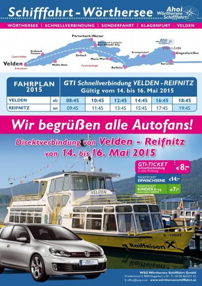 Gti Fahrplan 2015 ab Velden