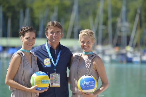 Hannes Jagerhofer ruft zum Casting der Foto-Girls für den A1 Beach Volleyball Grand Slam 2014 auf! Foto: acts/Bernhard Horst