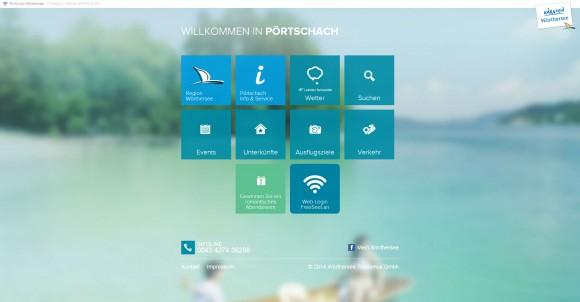 FreeSeeLan in Pörtschach. Die Einstiegsseite. Grafik: pixelpoint multimedia