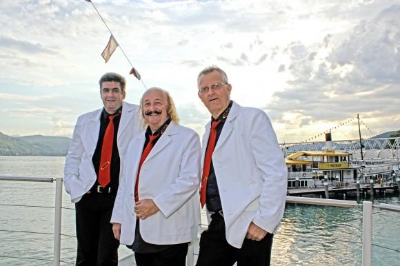 Das Kaiser Trio an Bord der Wörthersee Schifffahrt. Foto: pixelpoint