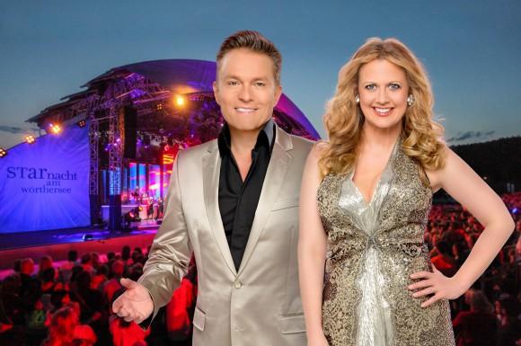 """Barbara Schöneberger und Alfons Haider moderieren die """"Starnacht"""". Foto: ORF/ORF"""