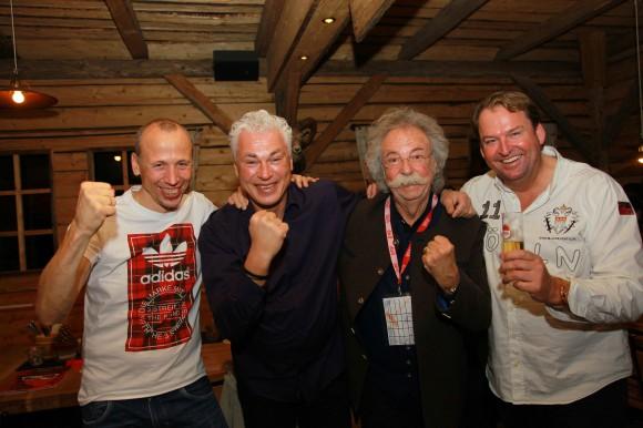 Matthias Scherz (Ex-Fußballprofi), Toni Polster (Österreichische Fußballlegende), Jean Pütz (Kultmoderator), Jürgen Schwarz