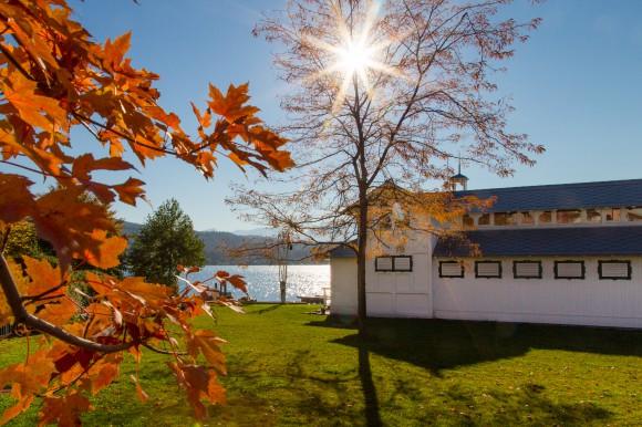 Herbstzeit beim Werzer's Badehaus in Pörtschach. Foto: pixelpoint/Handler