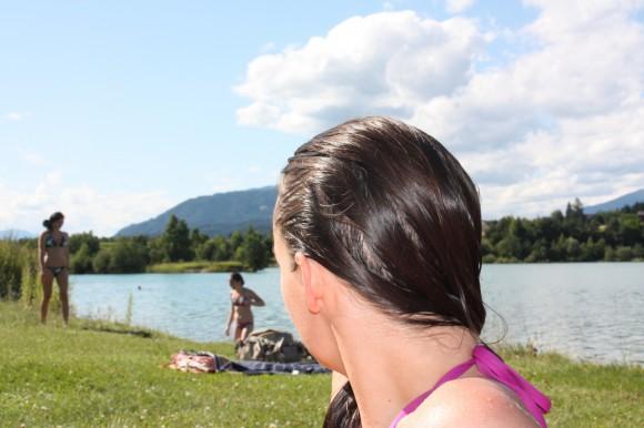 Beliebt: Der Silbersee bei Villach.