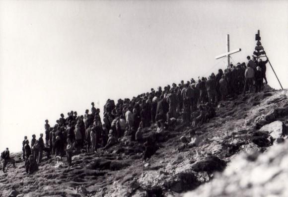 Die Einweihung des Kreuzes 1964